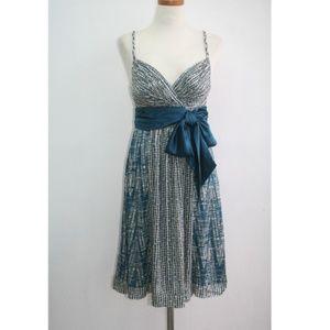 BCBGMAXAZRIA INDIGO DYED DRESS